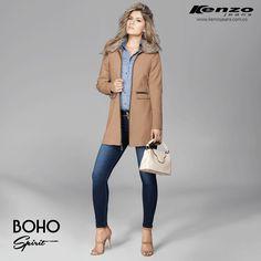 Fashion Everyday: La combinación infalible entre jeans y abrigos te brindan un atuendo casual pero fashion para cada día #BohoSpirit #KenzoJeans  Conoce más en www.kenzojeans.com.co