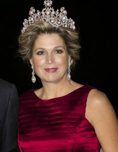 ♥•✿•QueenMaxima•✿•♥...Queen Wilhelmina of the Netherlands' Wurttemberg Ornate Pearl Tiara