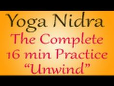 Yoga Nidra, the method of Conscious Sleep, is considered to be one of the deepest meditation techniques, leading you into a state of total stillness and insight >> yoga nidra, yoga nidra meditation, yoga nidra relaxation, Yoga Nidra MP3, yoga nidra youtube, yoga nidra cd, yoga nidra audio, yoga nidra for sleep, listen to yoga nidra for sleep, youtube yoga nidra --> www.youtube.com/watch?v=vvldC6mzLvA