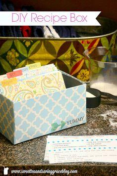 DIY Recipe Box     Sweet Tea & Saving Grace