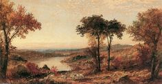 'Wyoming Valley, Pennsylvania', Oil On Canvas by Jasper Francis Cropsey (1823-1900, United States)