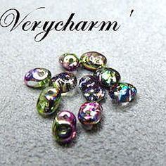 Perles super duo  violet green