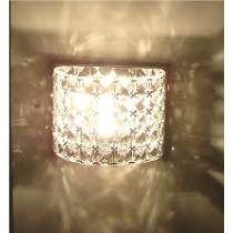 Arandela Em Cristal E Aço Ho2661w Bella Iluminação