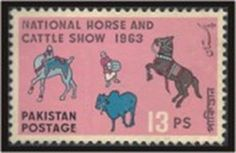 National Horse and cattle show 1963 #pakistan postage stamp