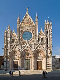 West facade of Siena Cathedral, Italy. This cathedral is true treasure trove of world class art works.