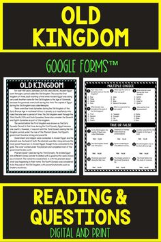 Ensure comprehension with this SELF-GRADING Old Kingdom DIGITAL Reading Passage and Questions for Google Classroom™. The non-fiction reading passage in digital format is delivered through Google Forms™ but a printable copy is inside as well! #OldKingdom #AncientEgypt #History #HomeSchool #Digital #4thgrade #5thgrade #6thgrade #Interactive #MiddleSchool #UpperElementary