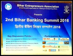 "Team Creative Imprints Conceptualized The Creative for ""Bihar Bank Summit 2016 held on 30th July 2016. We were glad to be part of this event which saw participation from major banks in Bihar. The event was a grand success!!"
