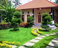 60 Beautiful Front Yards And Backyard Evergreen Garden Design Ideas - artmyideas Modern Landscape Design, Landscape Plans, Modern Landscaping, Front Yard Landscaping, Landscaping Ideas, Landscaping Software, Traditional Landscape, Front Yard Decor, Front Yard Design