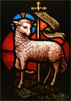"This is the ""lamb that was slain"" vs the triumphant lamb and the lamb of the passion"