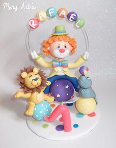 topo de bolo circo em biscuit - Pesquisa Google