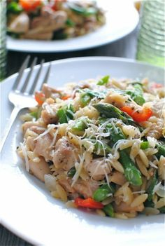 Orzo Risotto with Chicken and Spring Vegetables
