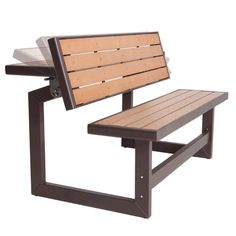 Lifetime Products Wood Grain Convertible Bench - It's a table ... no, wait, it's a bench. Oh, it's both! Get the best of both worlds with the Lifetime Wood Grain Convertible Bench . Whether you want...