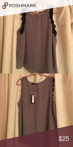 New with tags women's worthington top Pretty pink black and white top 2 xl Worthington Tops Camisoles