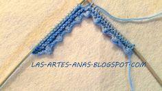 ARTES-ANAS: Cenefa de picos,para los calcetines de tu bebé