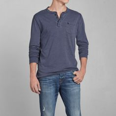 Mens Panther Gorge Henley | Mens Tees & Henleys | Abercrombie.com