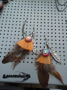 Sale Ear Wrap Bajoran Style jewelry/ Feather by SalmonNaturals, Ear Chain, Double Piercing, Men's Fashion, Fashion Jewelry, Handcrafted Jewelry, Unique Jewelry, Orange You Glad, Baubles And Beads, Cartilage Earrings