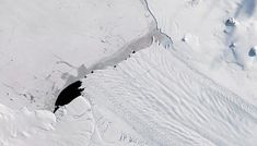 A new iceberg calved from Pine Island Glacier—one of the main outlets where ice from the interior of the West Antarctic Ice Sheet flows… Ice Sheet, Nasa Images, Pine Island, Sea Level Rise, Nasa Astronauts, Galaxy Art, Antarctica, Colour Images, Nature