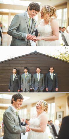 men in grey suits_green tie Best Wedding Suits, Trendy Wedding, Grey Suit Men, Grey Suits, Wedding Bride, Wedding Dresses, Wedding Stuff, Dream Wedding, Wedding Ideas