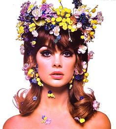 1960's JEAN SHRIMPTON (Supermodel) color glamour portrait  photo