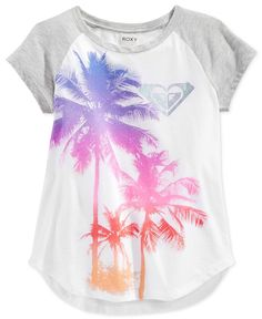 Roxy Little Girls' Raglan-Sleeve Graphic T-Shirt Boys Fashion Dress, Fashion Dress Up Games, Baby Boy Fashion, Kids Fashion, Fashion Bags, Roxy Clothing, Size Clothing, Outfits For Teens, Casual Outfits