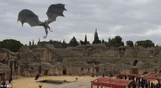 Making an entrance: She flew first class as everyone waited in the King's Landing Dragonpit