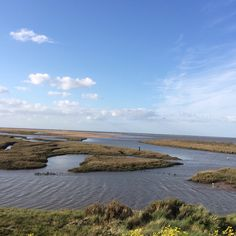 Over Thornham marsh to the beach and sea