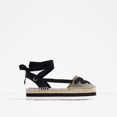 19137291f71a LEATHER LACE-UP ESPADRILLES Lace Up Espadrilles Flats