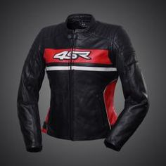 4SR Roadster Red Lady Leather Motorcycle Jacket Motorbike Clothing 1c7e2a33529