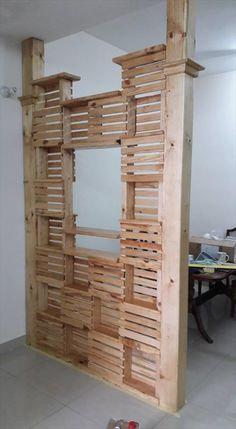 DIY #Pallet Office Room Divider | 99 Pallets