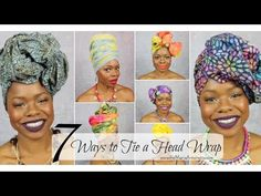 7 Ways to Tie a Headwrap   MariaAntoinetteTV - YouTube