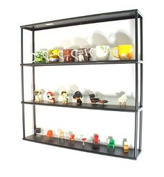 """3RD BEST ONE: Wall-Mounted Steel Shelving Unit - 36"""" H x 36"""" W x 6"""" D - Black - for kitchen, storage, or display use. Mango Steam http://smile.amazon.com/dp/B007CMEYGA/ref=cm_sw_r_pi_dp_Hde4ub07D4MYY"""