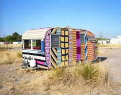 "Rob Hann ""Marfa, Texas (Crochet Trailer)"" via my friend Anthea Jammer. Vintage Campers, Camping Vintage, Retro Campers, Vintage Travel Trailers, Camper Trailers, Vintage Rv, Vintage Caravans, Vintage Motorhome, Shasta Trailer"