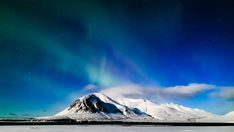 Bilderesultat for northern light winter ice mountain