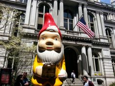 the boston garden gnome: old city hall