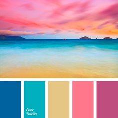 Color Palette by In Color Balance Scheme Color, Colour Pallette, Color Combos, Beach Color Palettes, Summer Colour Palette, Beach Color Schemes, Warm Color Palettes, Best Color Combinations, Bright Colour Palette
