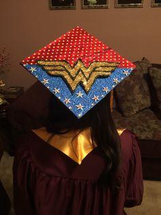 Wonder Woman graduation cap