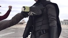 You don't need a billion-dollar bank account and an unresolved childhood trauma to become Batman. Jackson Gordon rocks his Batman outfit. Drunk College Girls, College Humor, Costume Batman, Batman Suit, Jackson, Combat Armor, Spy Gear, Kai, Batman Outfits