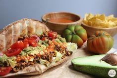 Tacos mexicain: seitan et quinoa, sauce au poivron et guacamole - La Fée Stéphanie