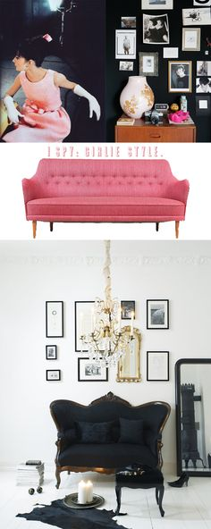 first, the pink couch is ridiculously cute. now, about that audrey photo. there are so many things i love about it. just look...
