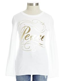 ☮ Peace Tee ~ love this! If only it came in black...