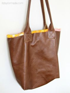 36 Best DIY Leather Tote Project images in 2019   Satchel handbags ... 9011cc9cb7