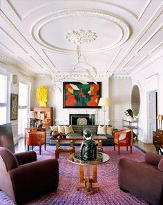 Terry de Gunzburg's Manhattan Apartment by Jacques Grange