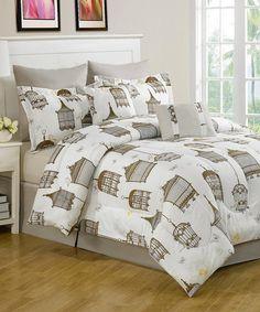 Look what I found on #zulily! Sidney Birdcage Comforter Set by Luxury Home #zulilyfinds
