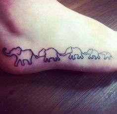 tattoo elephants walking silhouette - Google Search