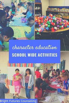 Character education activities for elementary and middle school. Bring the whole school together with these 4 quick and easy character education activities inlcuding a flashmob, photo booth, fun run, and banner pledge. Elementary School Counselor, Elementary Schools, Character Activities, Character Education Lessons, Education Humor, Character Ideas, School Fun, Primary School, Parenting
