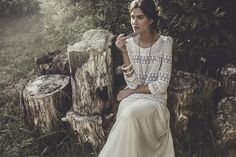 We just love Laure De Sagazan wedding dresses and bridal separates, pretty, delicate, romantic and oh-so-chic! With gorgeous photography by Laurent Nivalle. Laura Lee, Retro Fashion, Boho Fashion, Marie Laporte, Estilo Hippy, Bridal Tips, Bridal Separates, Bridal Photoshoot, Bridal Musings