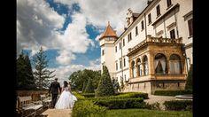 Wedding day in Konopiste Castle in Czech Republic