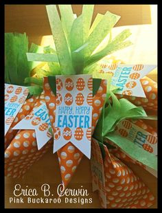 Easter Carrot Sour Cream Container
