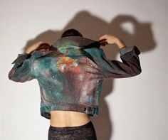 Hand Painted Painted Space/ Galaxy/ Nebula Jacket D.I.Y. by SNARL
