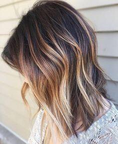 Bronde Balayage For Dark Brown Hair